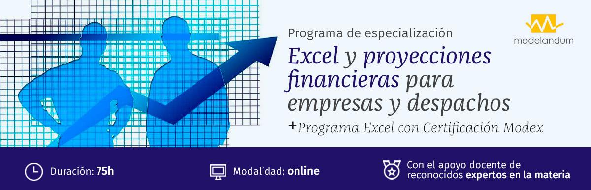 Curso Excel y proyecciones financieras