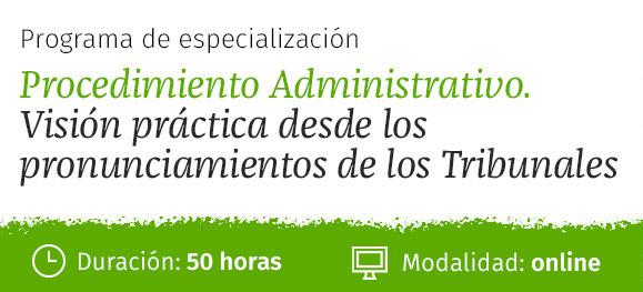 Programa de especialización Procedimiento Administrativo